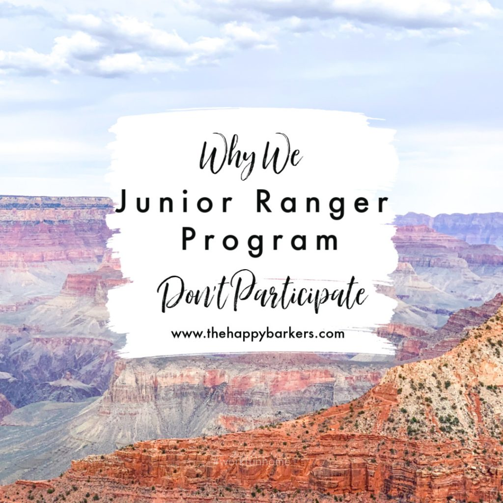 Why we don't participate in the junior ranger program