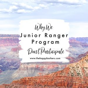 Junior Ranger Program-why we don't participate